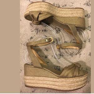 Michael kors platform ankle strap sandals 10